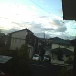 地震雲かな?