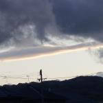 長野市から西の空